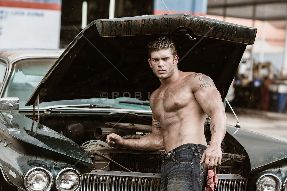 S And S Auto >> the sexiest shirtless auto repair man | ROB LANG IMAGES: LICENSING AND COMMISSIONS
