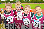 Pictured at the Kerry Community Games finals at Castleisland on Saturday were from Left Aidan Horgan Colm Foley, Luke Horgan and Rory Clifford (Marian Park Manor).