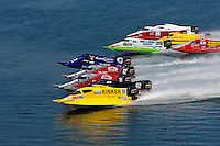 Heat race start: Terry Rinker (#10), Chris Fairchild (#62), Todd Bowden (#34) and Shaun Torrente (#42), Tim Seebold (#16), Wyatt Nelson (#39).Champ Boat Series Grand Prix of Augusta, Augusta, GA USA  May, 2007 ©F. Peirce Williams 2007..F. Peirce Williams .photography.P.O.Box 455 Eaton, OH 45320 USA.p: 317.358.7326  e: fpwp@mac.com..