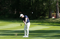 Mikko Korhonen (FIN) in action on the 6th hole during second round at the Omega European Masters, Golf Club Crans-sur-Sierre, Crans-Montana, Valais, Switzerland. 30/08/19.<br /> Picture Stefano DiMaria / Golffile.ie<br /> <br /> All photo usage must carry mandatory copyright credit (© Golffile | Stefano DiMaria)