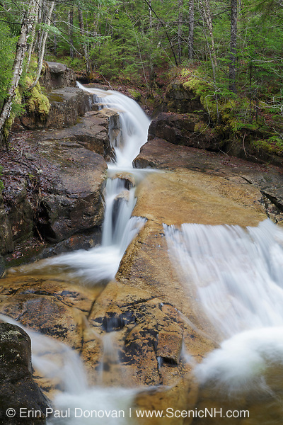 Shell Cascade in Waterville Valley, New Hampshire during the spring months. This cascade is located on Hardy's Brook.