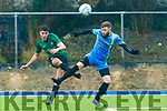 Action from Strand Rd against Castleisland in the Greyhound Bar Cup
