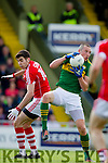 Kieran Donaghy Kerry in action against Sean Kiely Cork in the National Football league in Austin Stack Park, Tralee on Sunday.
