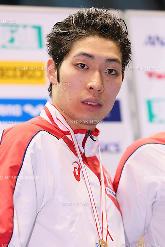 Kosuke Hagino (JPN),<br /> MAY 23, 2015 - Swimming :<br /> Japan Open 2015<br /> Men's<br /> 400m individual medley<br /> Award Ceremony<br /> at Tatsumi International Swimming Pool in Tokyo, Japan.<br /> (Photo by Yohei Osada/AFLO SPORT) [1156]