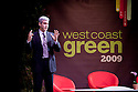 Keynote presentation by Andrew Winston, Founder of Winston Eco-Strategies and author of Green Recovery and Green to Gold. West Coast Green is the nation's largest conference and expo dedicated to green innovation, building, design and technology. The conference featured over 300 exhibitors, 125 speakers, and 80 education and networking sessions. Fort Mason, San Francisco, California, USA. Photo taken October 2, 2009.