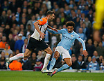 Leroy Sane of Manchester City draws a foul to earn a penalty from Ivan Ordets of Shaktar Donetsk during the Champions League Group F match at the Emirates Stadium, Manchester. Picture date: September 26th 2017. Picture credit should read: Andrew Yates/Sportimage