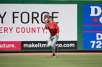 Philadelphia Phillies left fielder Hunter Markwardt (26) catches a fly ball during an Instructional League game against the Toronto Blue Jays on September 23, 2019 at Spectrum Field in Clearwater, Florida.  (Mike Janes/Four Seam Images)
