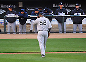 Baltimore, MD - April 6, 2009 -- New York Yankees pitcher C.C. Sabathia (52) walks to the dugout after being pulled from the game in the bottom of the 5th inning against the Baltimore Orioles at Oriole Park at Camden Yards in Baltimore, MD on Monday, April 6, 2009.  The Yankees lost the game 10 -5..Credit: Ron Sachs / CNP.(RESTRICTION: NO New York or New Jersey Newspapers or newspapers within a 75 mile radius of New York City)