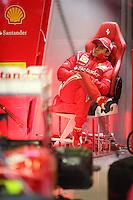 SPA FRANCORCHAMPS, BELGICA, 31 AGOSTO 2012  - F1 - GP DA BELGICA - O piloto brasileiro Felipe Massa da equipe Ferrari durante segundo dia de treinos livres para o GP da Belgica que acontece no proximo domingo. (FOTO: PIXATHLON / BRAZIL PHOTO PRESS).