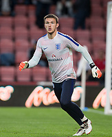 Goalkeeper Freddie Woodman (Newcastle United) of England U21 ahead of the FIFA World Cup qualifying match between England and Slovakia at Wembley Stadium, London, England on 4 September 2017. Photo by PRiME Media Images.