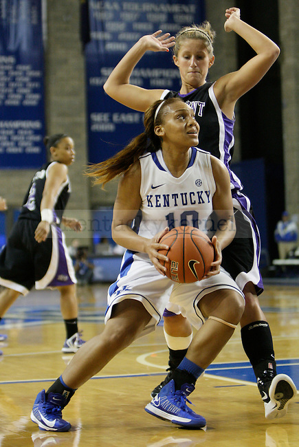 Junior guard Benisha Pinkett attacks the basket for a layup at the Women's Basketball game at Memorial Coliseum in Lexington, Ky., on Saturday, November. 17, 2012..