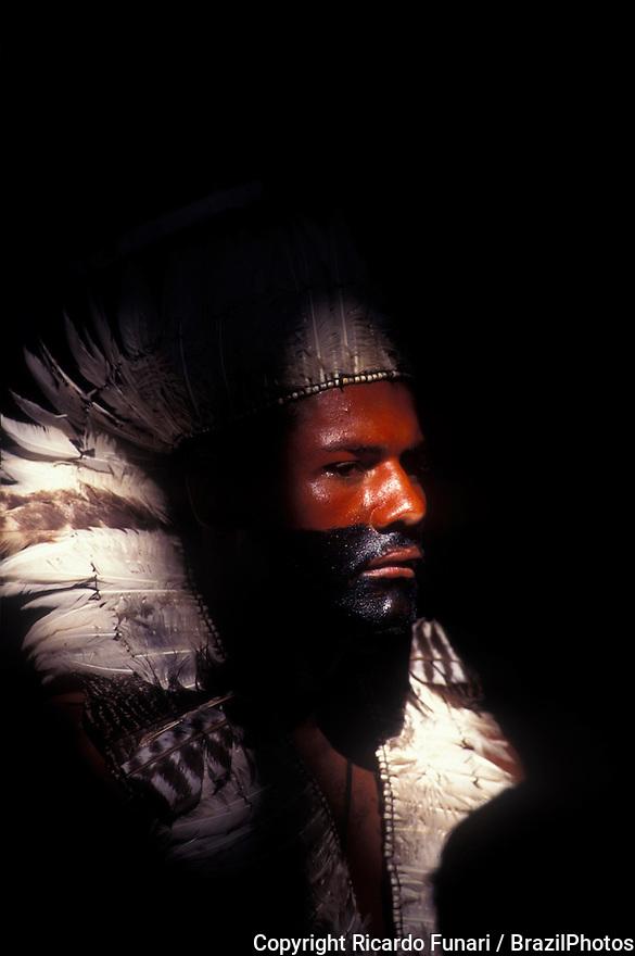 Indigenous People portrait, Native Brazilian Indian.
