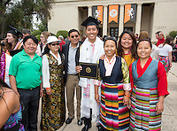 Tsering Lama. The class of 2015 graduates during Occidental College's 133rd Commencement, the Remsen Bird Hillside Theater, on Sunday, May 17, 2015.<br />