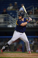 State College Spikes pinch hitter R.J. Dennard (32) at bat aduring a game against the Batavia Muckdogs August 23, 2015 at Dwyer Stadium in Batavia, New York.  State College defeated Batavia 5-3.  (Mike Janes/Four Seam Images)