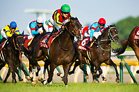 FUCHU,JAPAN-MAY 28: Fame Game #12,ridden by Christophe Lemaire,wins the Meguro Kinen at Tokyo Racecourse on May 28,2017 in Fuchu,Tokyo,Japan (Photo by Kaz Ishida/Eclipse Sportswire/Getty Images)