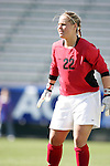 Virginia's Christina de Vries on Wednesday, November 2nd, 2005 at SAS Stadium in Cary, North Carolina. The University of Virginia Cavaliers defeated the Wake Forest Demon Deacons 2-1 during their Atlantic Coast Conference Tournament Quarterfinal game.