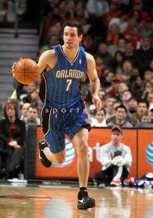 J.J. REDICK, in action during the Orlando Magic v. Chicago Bulls game on January 2, 2010 in Chicago, Illinois. Bulls won 101-93.
