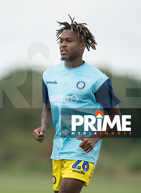 Rolando Aarons (on loan from Newcastle United) of Wycombe Wanderers pre match during the behind closed doors friendly between Brentford B and Wycombe Wanderers at Brentford Football Club Training Ground & Academy, 100 Jersey Road, TW5 0TP, United Kingdom on 3 September 2019. Photo by Andy Rowland.