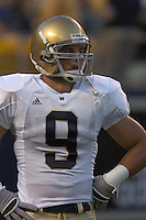3 September 2005:  Tom Zbikowski...Notre Dame defeated Pittsburgh 42-21 September 3, 2005 at Heinz Field in Pittsburgh, PA..