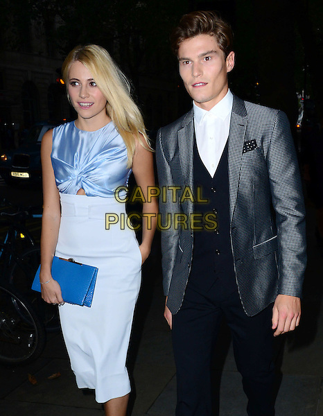 Pixie Lott, Oliver Cheshire attends the Scottish Fashion Awards 2014, 8 Northumberland Avenue, Northumberland Avenue, on Monday September 01, 2014 in London, England, UK. <br /> CAP/JOR<br /> &copy;Nils Jorgensen/Capital Pictures