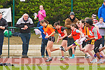 Sarah Leahy Killarney South powers into the lead ahead of Christine McCarthy Kenmare, Tara O'Connor Tarbert, Elizabeth Moloney Killarney South, Gift Ovbude Rock St/Caherslee and Aishling Guerin Abbeydourney/Kilflynn the Kerry Community Games finals on Sunday
