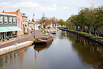Canal and boats, Schipluiden village, Netherlands