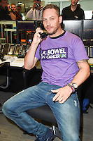 Tom Hardy<br /> on the trading floor for the BGC Charity Day 2016, Canary Wharf, London.<br /> <br /> <br /> &copy;Ash Knotek  D3152  12/09/2016