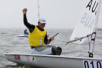 Medemblik - the Netherlands, May 30th 2010. Delta Lloyd Regatta in Medemblik (26/30 May 2010). Day 5, medal race. Laser