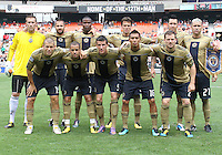 Starting eleven of the Philadelphia Union during an MLS match against D.C. United at RFK Stadium on August 22 2010, in Washington DC. United won 2-0.