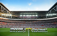 London, England - Thursday, August 9, 2012: The USA defeated Japan 2-1 to win the London 2012 Olympic gold medal at Wembley Stadium. .