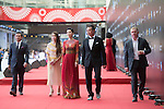 Tenniel Chu and his wife Carmen, English Football Player Paul Scholes, and Actress Charmaine Sheh walk the Red Carpet event at the World Celebrity Pro-Am 2016 Mission Hills China Golf Tournament on 20 October 2016, in Haikou, China. Photo by Weixiang Lim / Power Sport Images