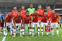 PEREIRA, COLOMBIA - JANUARY 18: Members of the Chile team pose for a picture before his soccer game against Ecuador during their CONMEBOL Preolimpico soccer game at the Hernan Ramirez Villegas Stadium on January 18, 2020 in Pereira, Colombia. (Photo by Daniel Munoz/VIEW press/Getty Images)