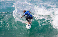 Huntington Beach, CA - Saturday August 05, 2017: Dusty Payne during a World Surf League (WSL) Qualifying Series (QS) fifth round heat in the 2017 Vans US Open of Surfing on the South side of the Huntington Beach pier.