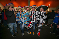 Grimsby Town fans ahead of the Sky Bet League 2 match between Barnet and Grimsby Town at The Hive, London, England on 29 April 2017. Photo by David Horn.