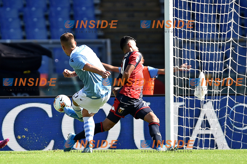 Sergej Milinkovic-Savic of SS Lazio scores the goal of 1-0 for his side <br /> Roma 29-9-2019 Stadio Olimpico <br /> Football Serie A 2019/2020 <br /> SS Lazio - Genoa CFC <br /> Foto Andrea Staccioli / Insidefoto