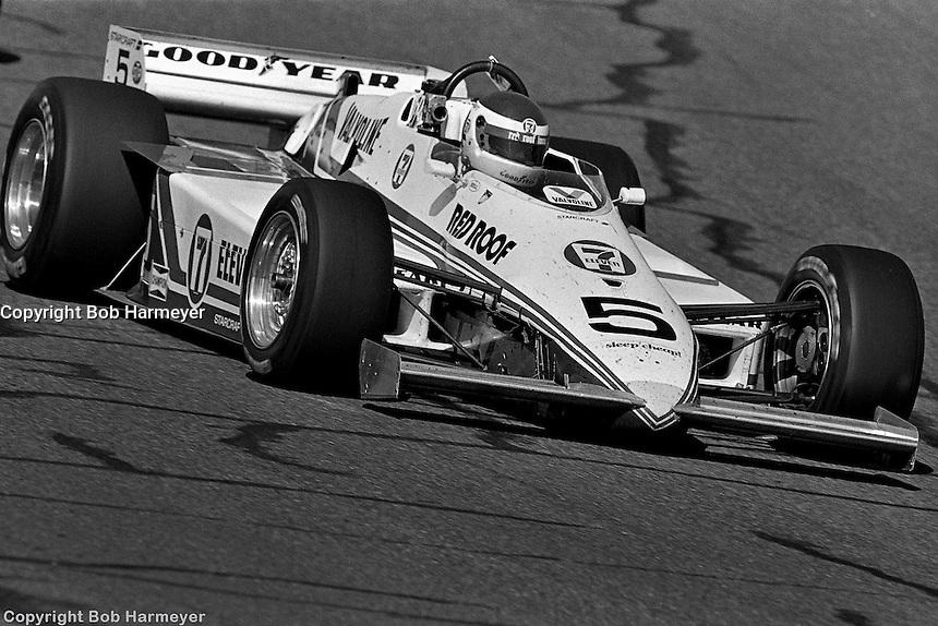 PHOENIX, AZ - APRIL 15: Bobby Rahal drives his March 84C 11/Cosworth at the Dana Jimmy Bryan 150 IndyCar race on April 15, 1984, at Phoenix International Raceway near Phoenix, Arizona.