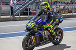 Valentino Rossi (46) in action during the Red Bull Grand Prix of the Americas race at the Circuit of the Americas racetrack in Austin,Texas.