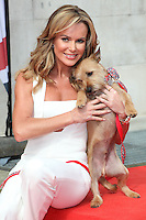 Amanda Holden and her dog Rudy attending a photocall for 'Britain's Got Talent' at St Luke's Church, London. 09/04/2014 Picture by: Alexandra Glen / Featureflash