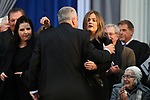 Nevada Gov. Steve Sisolak hugs his daughter  Carley at his inauguration at the Capitol, in Carson City, Nev., on Monday, Jan. 7, 2019. <br /> Photo by Cathleen Allison/Nevada Momentum
