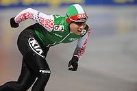 SCHAATSEN: BOEDAPEST: Essent ISU European Championships, 06-01-2012, 3000m Ladies, Tatyana Mikhaylova BLR, ©foto Martin de Jong