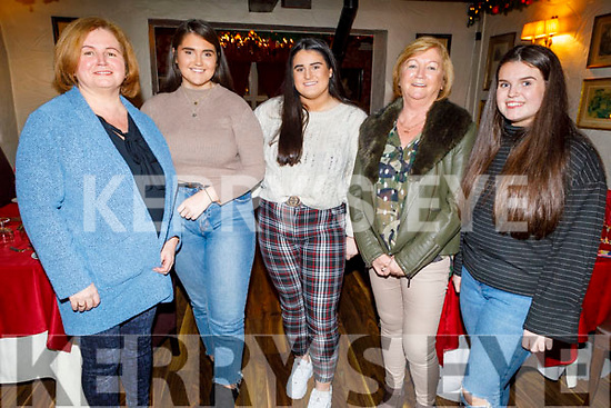 Ann Lyons, Moya and Aine Sheehan, Eileen Lyons and Alex Sheehan from Castleisland enjoying Little Women's Christmas in Cassidys on Monday.