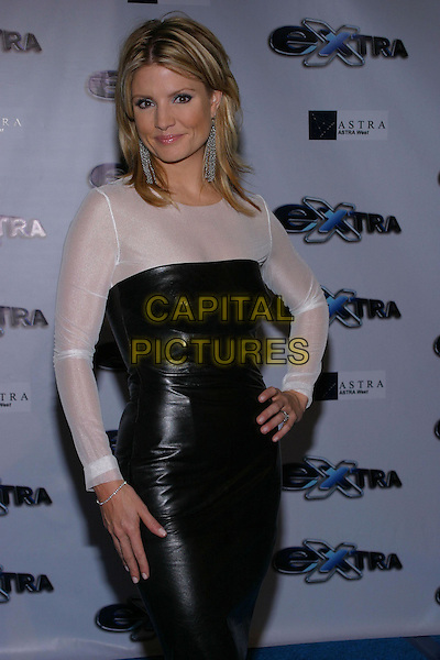 "Dayna Devon.""Extra"" 11th Season Party held at the Lounge, Hollywood, California, USA, 7th October 2004 .half length black and white dress.Ref: ADM.www.capitalpictures.com.sales@capitalpictures.com.©JW/AdMedia/Capital Pictures ."