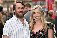 """David and Victoria Coren Mitchell<br /> The premiere of """"The Festival"""" at Cineworld Leicester Square<br /> <br /> ©Ash Knotek  D3419  13/08/2018"""