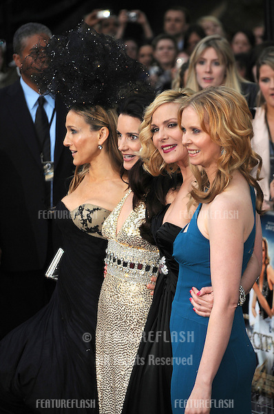 Sarah Jessica Parker, Kristin Davis, Kim Cattrall, Cynthia Nixon  attends the Sex and the City 2 UK premiere at the  Odeon Cinema in Leicester Square in London..May 27, 2010.Picture: Anne-Marie Michel / Featureflash