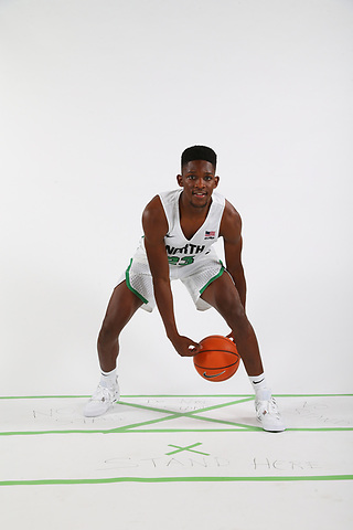 University of North Texas Mean Green Men's Basketball posed action on October 24, 2017 at super Pit in Denton on October 24, 2017