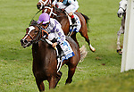 "October 10, 2018 : #4 Concrete Rose and jockey Jose Lezcano win the 28th running of The JPMorgan Chase Jessamine Grade 2 $200,000 ""Win and You're In Breeders' Cup Juvenile Fillies Turf Division"" for trainer George Arnold and owner Ashbrook Farm, BBN Racing at Keeneland Race Course on October 10, 2018 in Lexington, KY.  Candice Chavez/ESW/CSM"