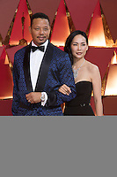 www.acepixs.com<br /> <br /> February 26 2017, Hollywood CA<br /> <br /> Actor Terrence Howard (L) and Mira Pak arriving at the 89th Annual Academy Awards at Hollywood &amp; Highland Center on February 26, 2017 in Hollywood, California.<br /> <br /> By Line: Z17/ACE Pictures<br /> <br /> <br /> ACE Pictures Inc<br /> Tel: 6467670430<br /> Email: info@acepixs.com<br /> www.acepixs.com