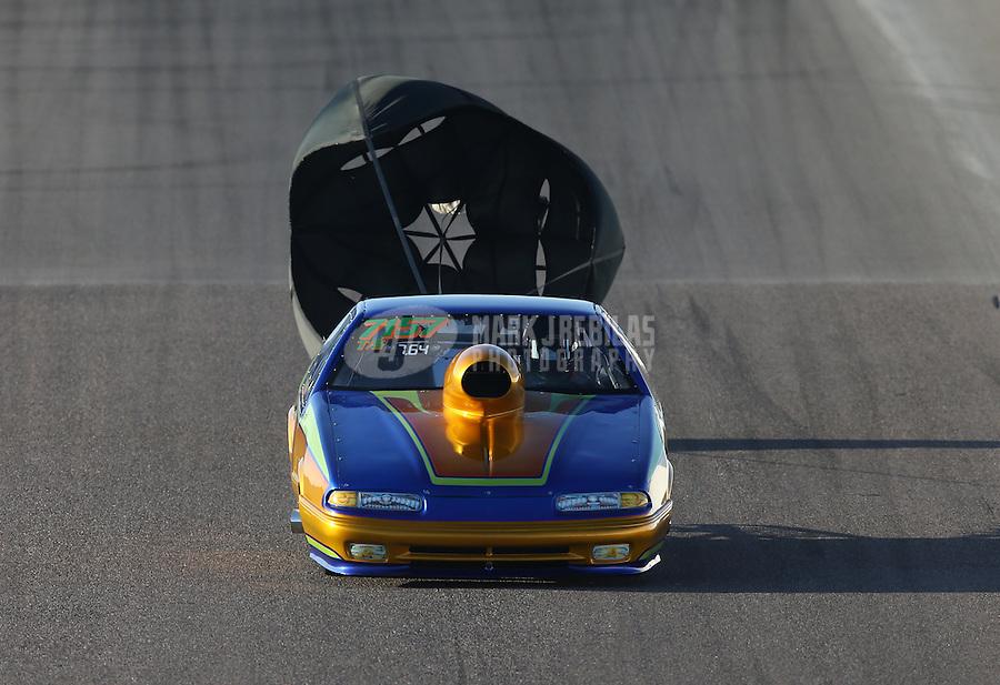 Feb. 23, 2013; Chandler, AZ, USA; NHRA top sportsman driver Dave Deadman during qualifying for the Arizona Nationals at Firebird International Raceway. Mandatory Credit: Mark J. Rebilas-