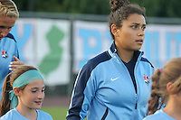Piscataway, NJ - Saturday Aug. 27, 2016: Raquel Rodriguez prior to a regular season National Women's Soccer League (NWSL) match between Sky Blue FC and the Chicago Red Stars at Yurcak Field.