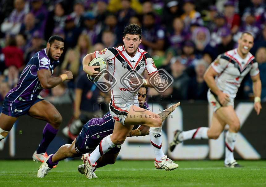 Chad Townsend (NZ)<br /> NZ Warriors vs Melbourne Storm<br /> ANZAC day clash - AAMI Park<br /> Rugby League - 2014 NRL <br /> Melbourne AUS Friday 25 April  2014<br /> &copy; Sport the library / Jeff Crow